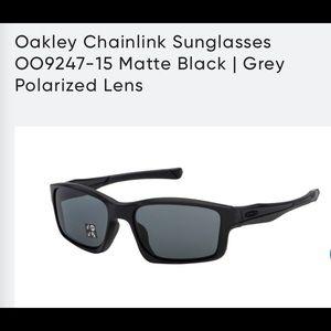 Oakley Chainlink black polarized sunglasses